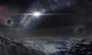 An artist''s impression of the superluminous supernova ASASSN-15lh (Assassin) as it would appear from an exoplanet located in the host galaxy of the supernova.