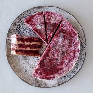 Emily von Euw's vegan berry frozen cheesecake.