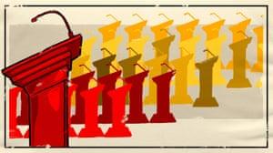 Illustration of podiums