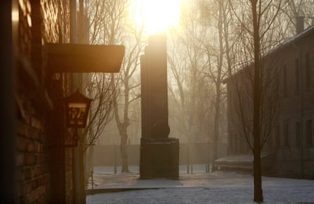 Germany's legacy … chimneys at the former Auschwitz concentration camp in January this year.