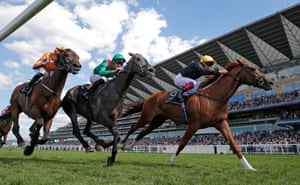 Frankie Dettori aboard Stradivarius (right) winning the Gold Cup during day three Ladies Day of the Royal Ascot 2018 meeting in June 2018
