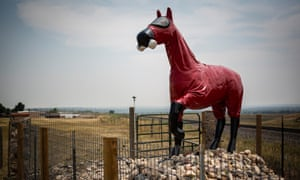 The Cold War Horse, a memorial created in honor of those who worked at the Rocky Flats Plant, stands near the site.