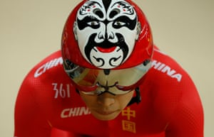 Xu Chao of China emerges for his mens sprint qualifying
