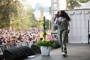Zimbabwe-born Adelaide-based hip-hop artist Tkay Maidza enjoys her first Womadelaide.