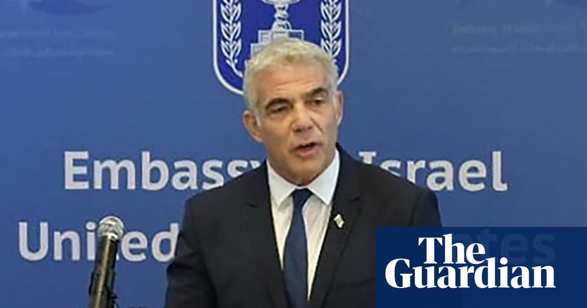 Israeli foreign minister Yair Lapid opens embassy in Abu Dhabi