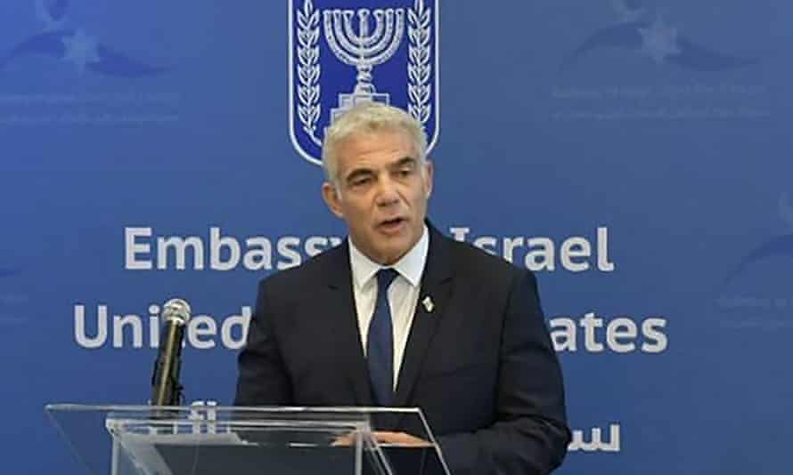 Israel's alternate prime minister and foreign minister, Yair Lapid,
