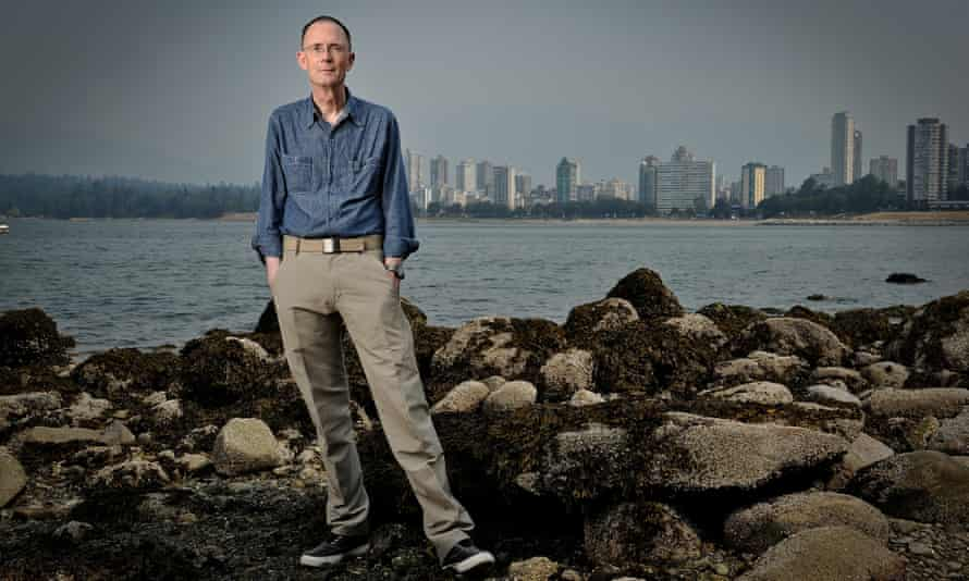William Gibson at Kitsilano Beach, Vancouver.