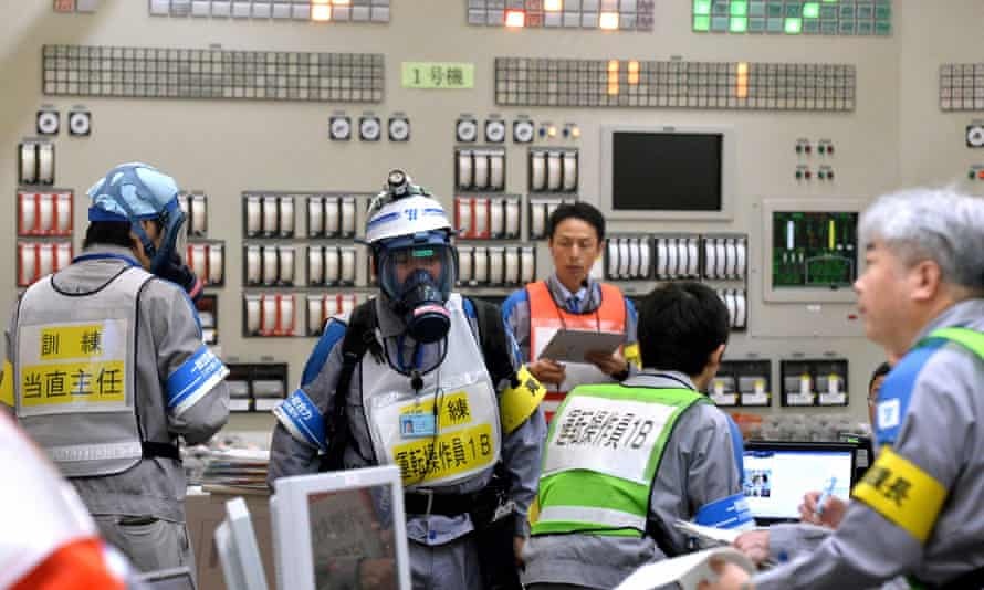 Emergency tests at the Sendai nuclear plant near Satsumasendai ahead of of its upcoming restart.