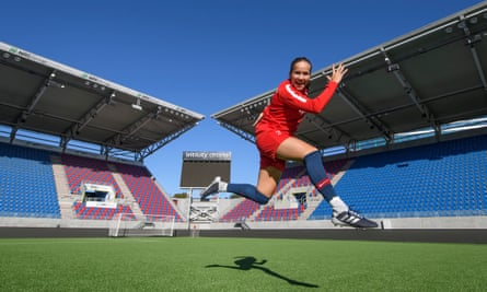 Guro Reiten of Norway during training session before Norway v Netherland in September 2018.