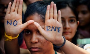 An Indian student at an anti-rape demonstration