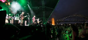 Crowded House performing in Sydney. The city was once a global capital of live music; now many bands struggle to play there at all.