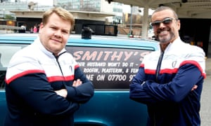 'I owe George for the success of Carpool Karaoke': James Corden and George Michael in the 2011 Comic Relief sketch.