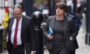 Arlene Foster and Nigel Dodds arrive at Downing Street