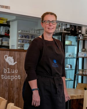 Lisa Thwaites at the Blue Teapot cafe.