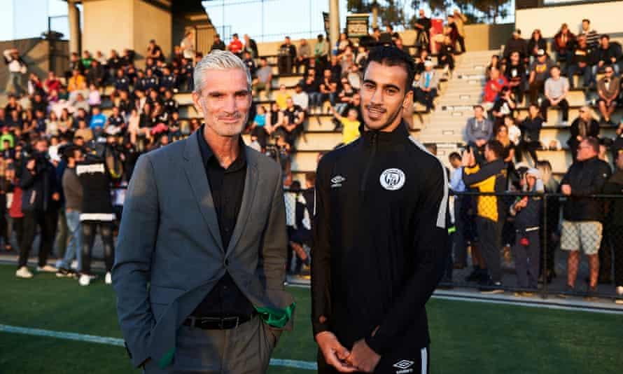 Hakeem al-Araibi and Craig Foster