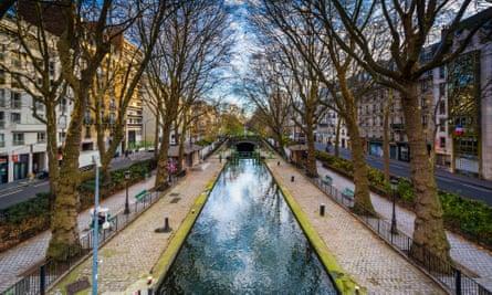 The gentrified area around Canal Saint-Martin, Paris