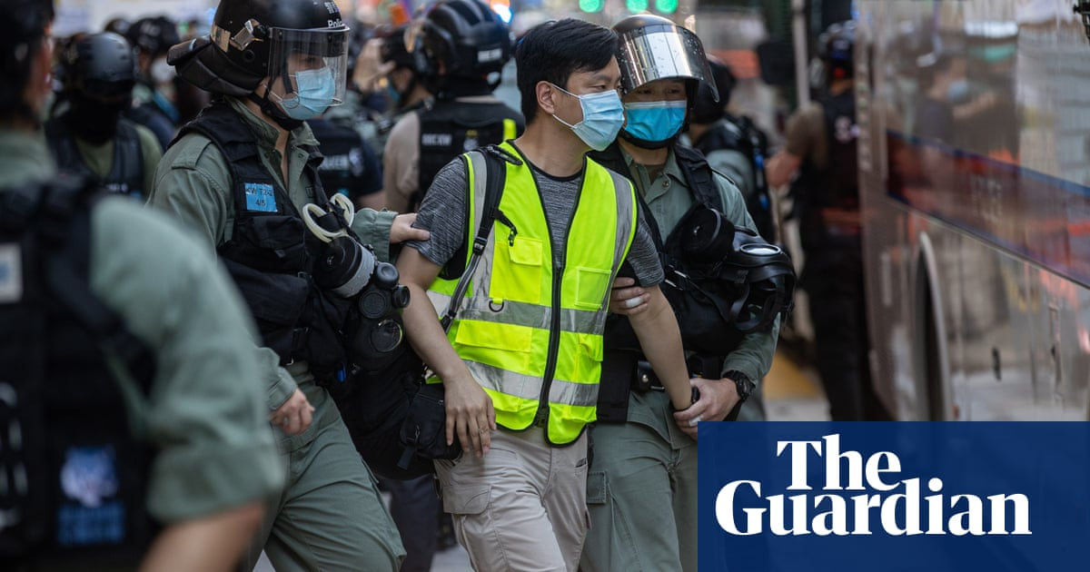 Dozens arrested during Hong Kong peaceful protest against national security laws