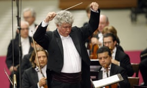 Hungarian director Zoltan Kocsis performs during a concert by the Hungarian National Philharmonic Orchestra in 2011.