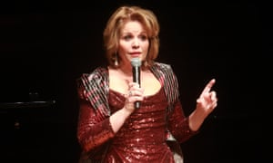 Renée Fleming speaks to the Barbican audience on Wednesday.