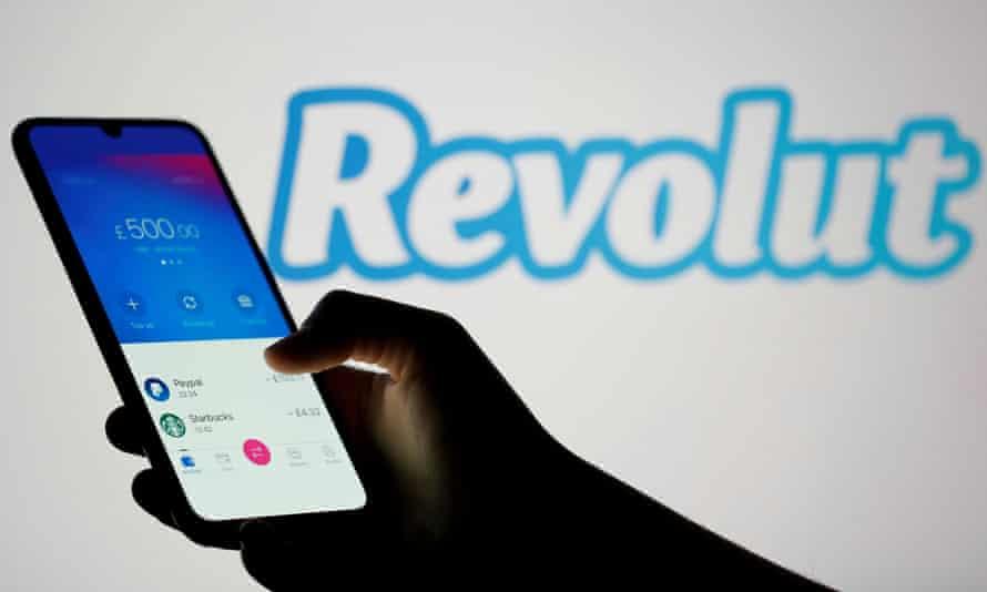 Revolut app on smartphone