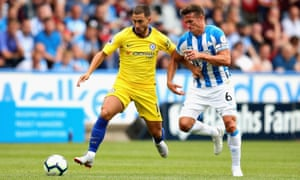 Eden Hazard came off the bench to score for Chelsea in their win at Huddersfield.