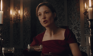 Vicky Krieps in Phantom Thread. This scene works so beautifully against the film's finely manicured surroundings.