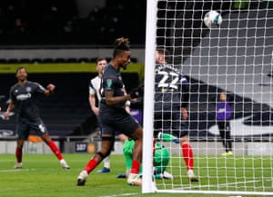 Brentford's Ivan Toney scores a goal which is later disallowed