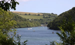 A view from Agatha Christie's estate on the River Dart in Devon