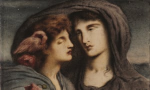 Simeon Solomon's Night Looking Upon Sleep, Her Beloved Child, is among artworks being sold by the Ben Uri Gallery, London.