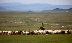A herder family in rural Mongolia