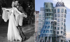 Ginger Rogers, Fred Astaire and the Dancing Tower in Prague