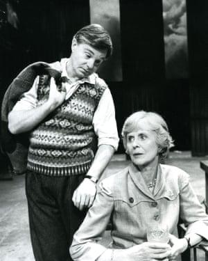 Derek Jacobi as Alan Turing and Isabel Dean as Sara Turing in Breaking the Code, 1986.