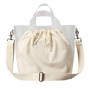 Cream and clear tote, £35, weekday.com