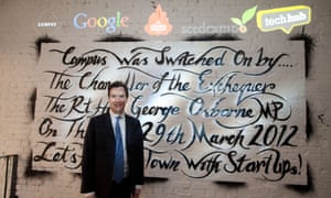 George Osborne at the official opening of Google's tech campus in London, 2012.