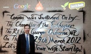 George Osborne during the official opening of Google's East London technology campus in 2012