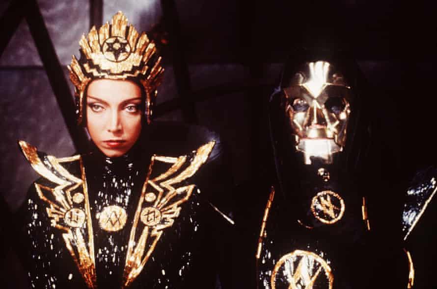 Peter Wyngarde as the gold-masked villain General Klytus in Flash Gordon