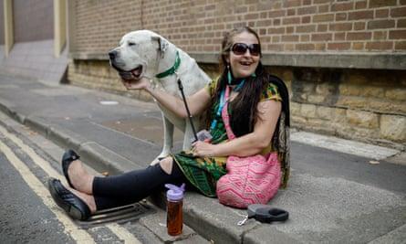 Sharron Maasz and her dog, Jack, in Oxford.