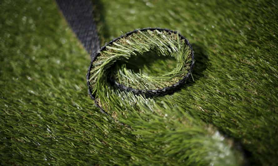 Artificial grass companies are reporting an increase in sales.