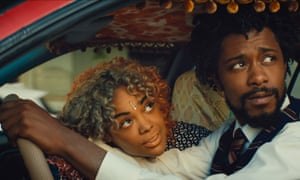 Tessa Thompson and Lakeith Stanfield in Sorry to Bother You.