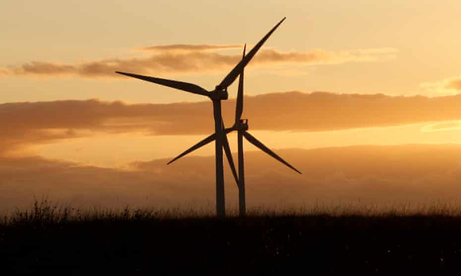 Green Rigg windfarm in Northumberland.