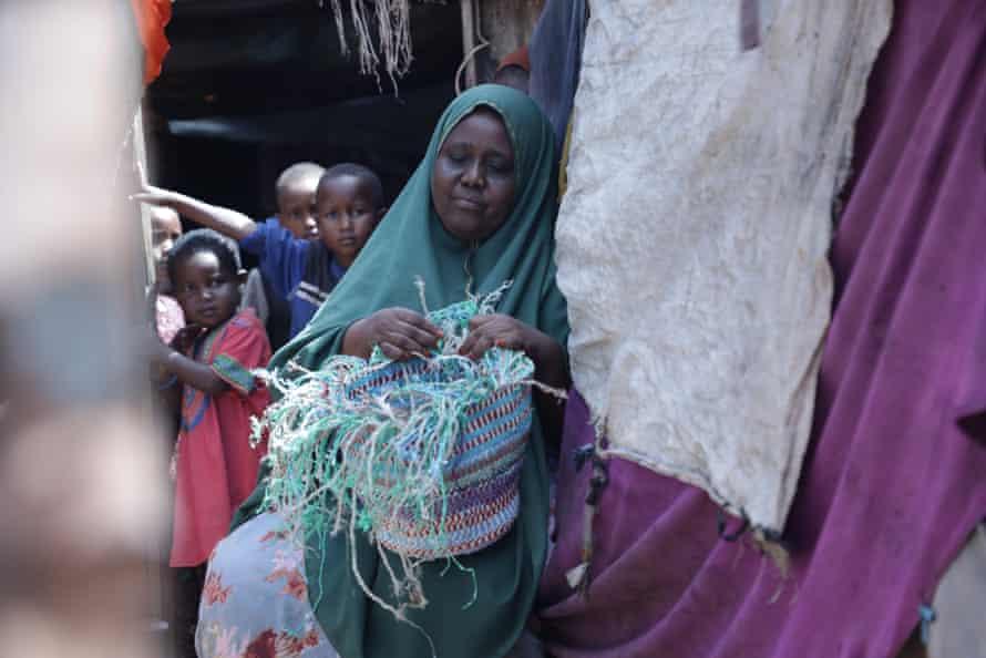 Fadumo Ali Mohamed with her children.