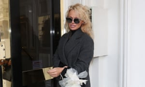 From 23 February, 2017, of Pamela Anderson arriving to visit Julian Assange at the Ecuadorian embassy in London.