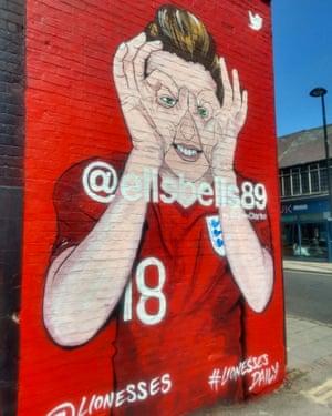 The mural of Ellen White in Aylesbury.
