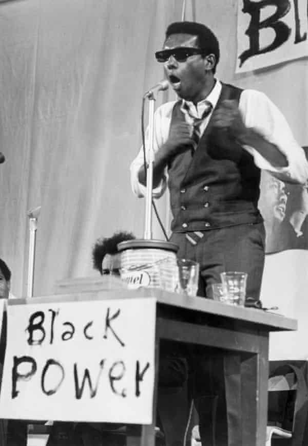 Civil rights activist Stokely Carmichael.