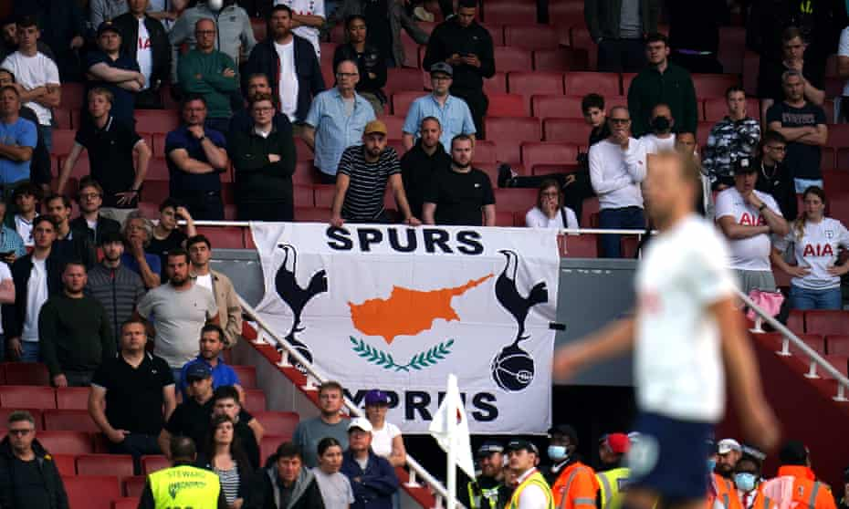 Empty seats and unhappy fans in the away section as Tottenham head for defeat at Arsenal on Sunday.