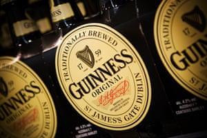 Bottles of Guinness, a Diageo brand