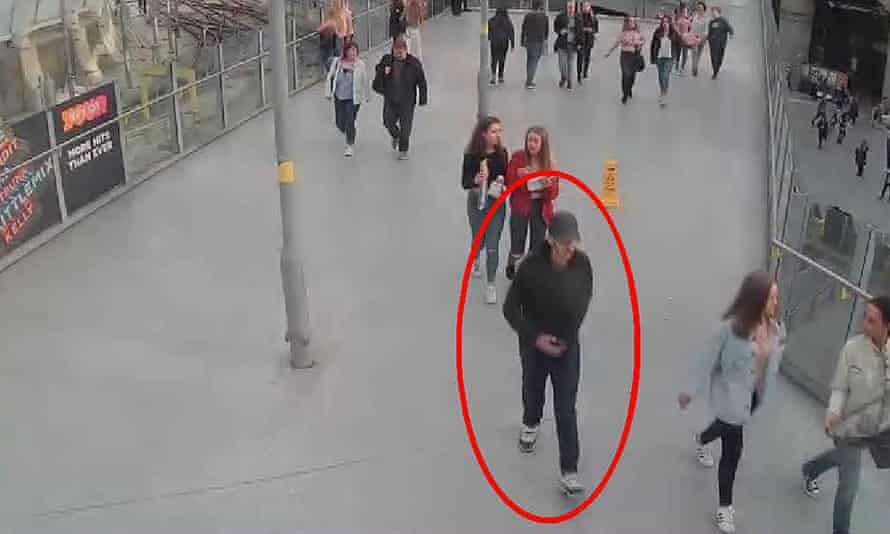 Suicide bomber on CCTV