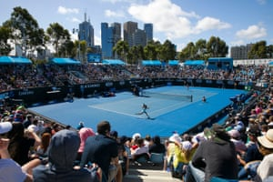 A general view of the action on Court 3 on day one.