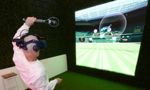 John McEnroe plays virtual-reality tennis for fun but the technology has great potential for helping athletes improve their performance.