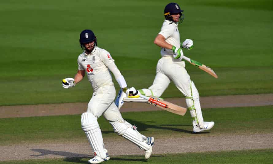 Chris Woakes and Jos Buttler in action for England